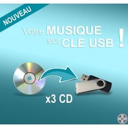 Clé USB personnalisable / 3 CD