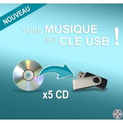 Clé USB personnalisable / 5 CD