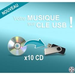 Clé USB personnalisable / 10 CDs